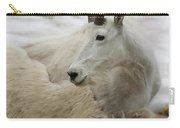 Snow White Mountain Goat Carry-all Pouch