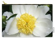 Snow White Peony Carry-all Pouch