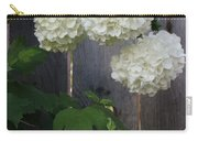 Snowball Flowers Carry-all Pouch