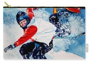 Snowboard Psyched Carry-all Pouch by Hanne Lore Koehler