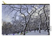 Snowboarders In Central Park Carry-all Pouch