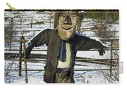 Snowcapped Scarecrow Carry-all Pouch by Anne Gilbert
