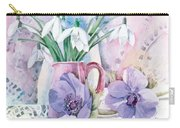 Snowdrops And Anemones Carry-all Pouch