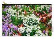 Snowdrops And Crocuses Carry-all Pouch