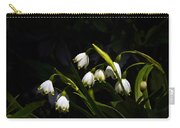 Snowdrops And Dark Background Carry-all Pouch