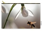 Snowdrops And The Bee Carry-all Pouch
