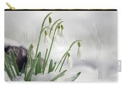 Snowdrops On Ice Carry-all Pouch