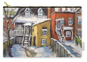 Snowed In Yards By Prankearts Carry-all Pouch