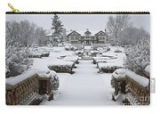 Snowfall At Longview Mansion Carry-all Pouch