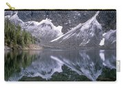 Snowfield Reflection On Blue Lake  Carry-all Pouch