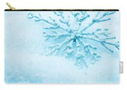 Snowflake In Snow Carry-all Pouch