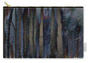Snowing In The Ice Forest At Night Carry-all Pouch