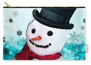 Snowman Christmas Art - Frosty Carry-all Pouch
