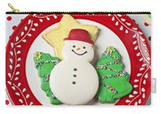 Snowman Cookie Plate Carry-all Pouch
