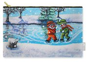 Snowman Friends Ice Skating  P2 Carry-all Pouch
