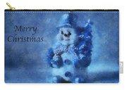 Snowman Merry Christmas Photo Art 01 Carry-all Pouch