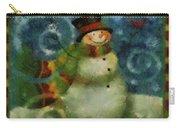 Snowman Photo Art 16 Carry-all Pouch