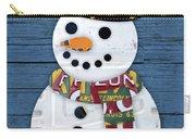 Snowman Winter Fun License Plate Art Carry-all Pouch