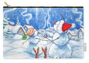 Snowmen And Christmas Star Carry-all Pouch