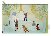 Snowmen Carry-all Pouch by Ditz