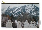 Flatiron Snowmen. Carry-all Pouch
