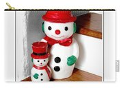 Snowmen - Greetings - Happy Holidays Carry-all Pouch