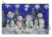 Snowmen Peace Photo Art Carry-all Pouch
