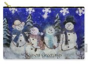 Snowmen Season Greetings Photo Art Carry-all Pouch