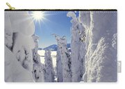 Snowscape Snow Covered Trees And Bright Sun Carry-all Pouch