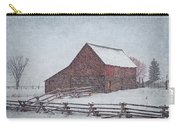 Snowstorm At The Ranch 2 Carry-all Pouch