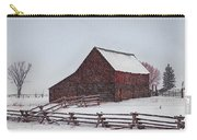 Snowstorm At The Ranch Carry-all Pouch