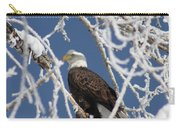 Snowy Bald Eagle Carry-all Pouch