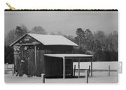 Snowy Barn Bw Carry-all Pouch