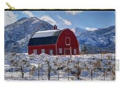Snowy Barn In The Mountains - Utah Carry-all Pouch