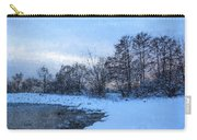 Snowy Beach Impressions Carry-all Pouch