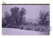 Snowy Bench In Purple Carry-all Pouch