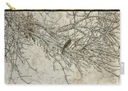 Snowy Bird Carry-all Pouch