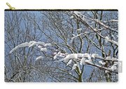 Snowy Branches With Blue Sky Carry-all Pouch
