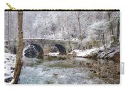 Snowy Bridge Along The Wissahickon Carry-all Pouch