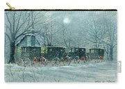 Snowy Carriages Carry-all Pouch