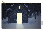 Snowy Chapel At Night Carry-all Pouch