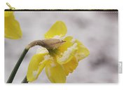 Snowy Daffodil Carry-all Pouch