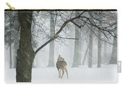 Snowy Deer Carry-all Pouch