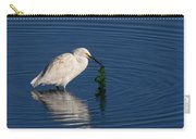 Snowy Egret Catches Sushi And Seaweed Carry-all Pouch