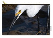 Snowy Egret Dribble Carry-all Pouch