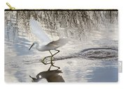 Snowy Egret Gliding Across The Water Carry-all Pouch