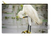 Snowy Egret In Swamp Carry-all Pouch