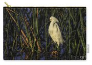 Snowy Egret In The Reeds Carry-all Pouch