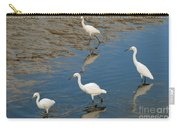 Snowy Egret Lunch Break Carry-all Pouch