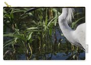 Snowy Egret Stalking Carry-all Pouch